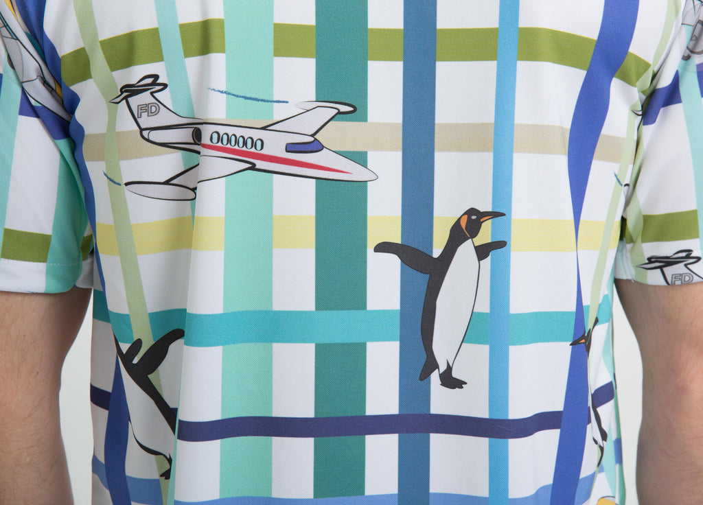 penguins and airplanes shirt