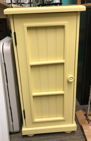 colorful yellow cabinet