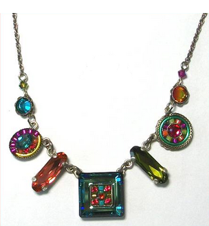 Firefly La Dolce Vita Mosaic Necklace - Multi Color