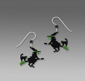 Sienna Sky Flying Witch Earrings
