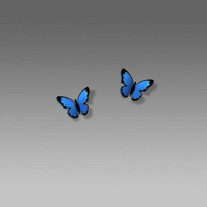 Sienna Sky Blue Morpho Butterfly Earrings