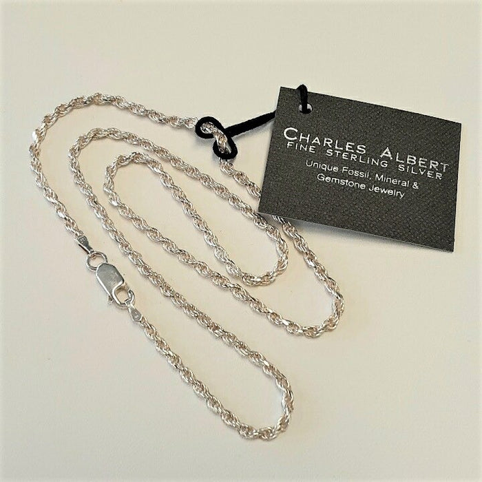 Charles Albert Sterling Silver Rope Chain