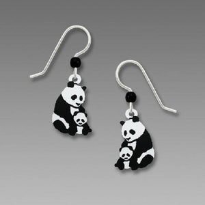 Sienna Sky Panda with Cub Earrings
