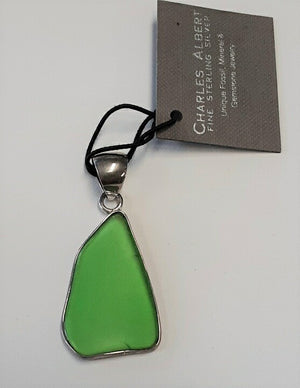 Charles Albert Green Sea Glass Pendant