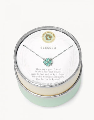 SEA LA VIE BLESSED NECKLACE Sea Foam