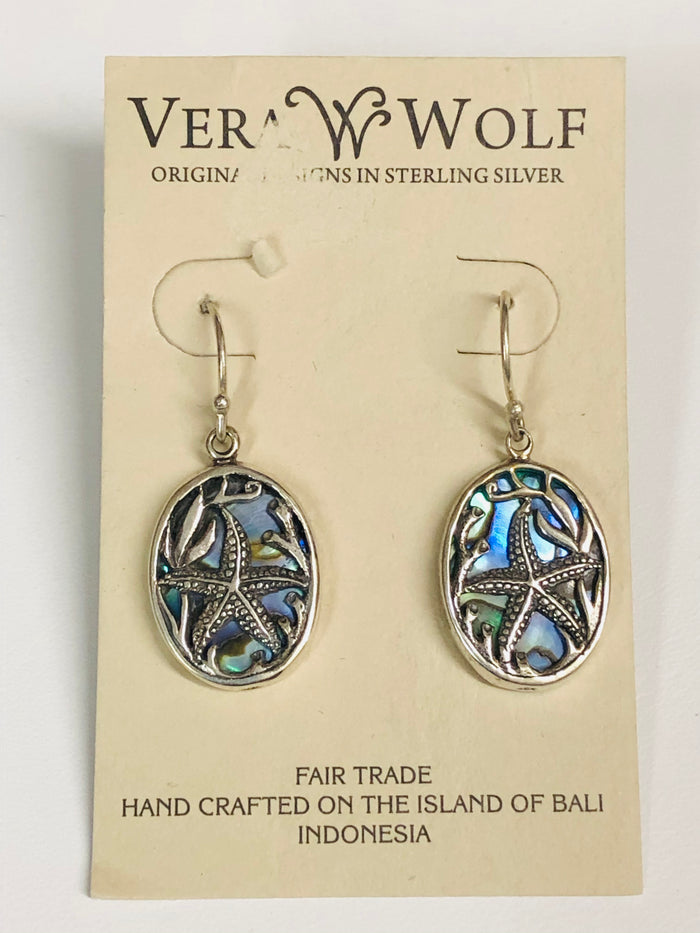 Vera Wolf Sterling Silver Earrings - Starfish