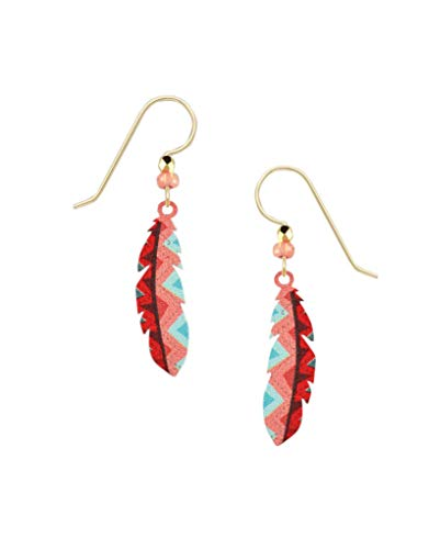 Sienna Sky Zig Zag Feather Earrings
