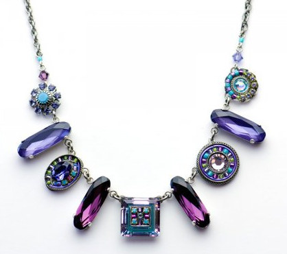 Firefly La Dolce Vita Oblong Necklace - Amethyst