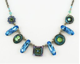 Firefly La Dolce Vita Oblong Necklace - Light Blue