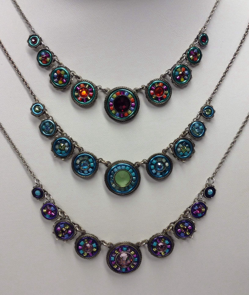 Firefly La Dolce Vita Circles Necklace; Color Group 1