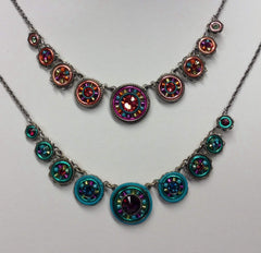 Firefly La Dolce Vita Circles Necklace; Color Group 2