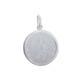 Lola St. Christopher Pendant-Alpine White, Medium