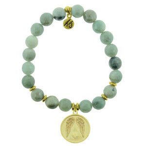 T. Jazelle Amazonite Gold Guardian Bracelet