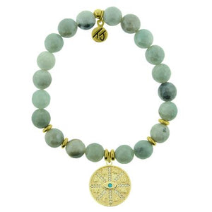 T. Jazelle Amazonite Gold Protection Bracelet