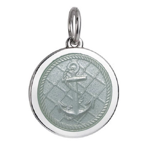 Front of Colby Davis Anchor Pendant - Medium, White