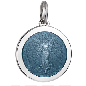 Front of Colby Davis Guardian Angel Pendant - Medium, Gray