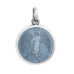 Front of Colby Davis Guardian Angel Pendant - Small, Gray
