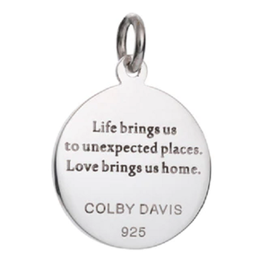 Back of Colby Davis Compass Rose Pendant - Medium