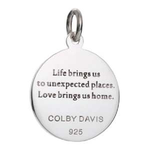 Back of Colby Davis Compass Rose Pendant - Small