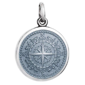 Front of Colby Davis Compass Rose Pendant - Small, Gray
