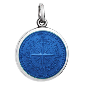 Front of Colby Davis Compass Rose Pendant - Small, Royal Blue
