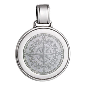 Front of Colby Davis Compass Rose Pendant - Large, White