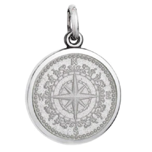 Front of Colby Davis Compass Rose Pendant - Small, White