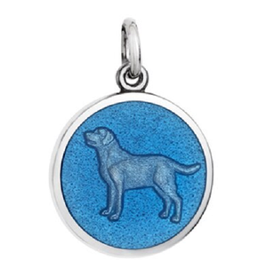 Front of Colby Davis Dog Pendant - Small, French Blue
