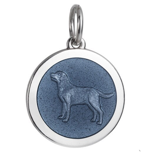 Front of Colby Davis Dog Pendant - Medium, Gray