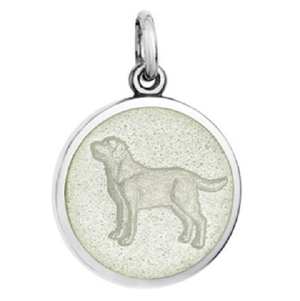 Front of Colby Davis Dog Pendant - Small, White