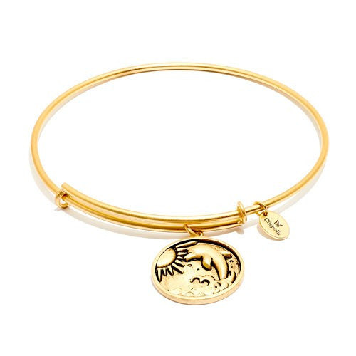 Dolphin Expandable Bangle - Gold