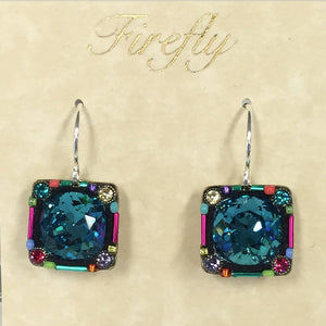 Firefly Focal Stone Earrings - Multi Color