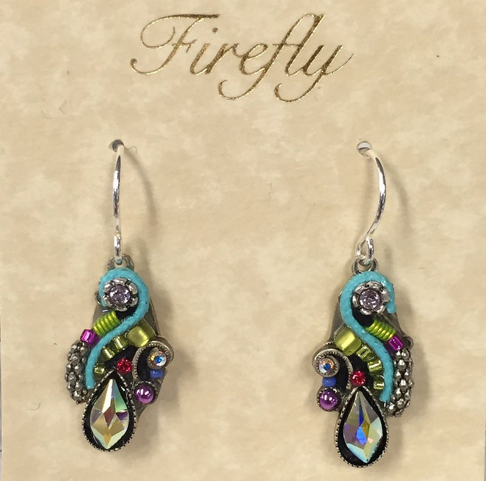 Firefly Swirl Teardrop Earrings