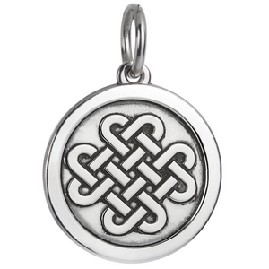 Front of Colby Davis Friendship Celtic Knot Pendant - Medium, Oxidized Silver