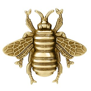 Colby Davis Gold Bee Pendant - Large Vermeil