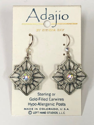 Adajio Silver Snowflake Earrings