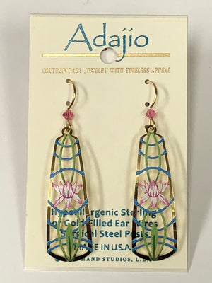 Adajio Floral Etched Earrings