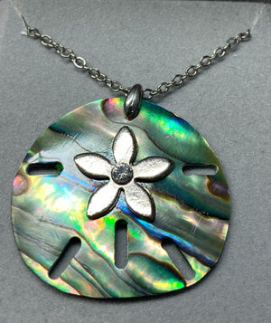 Wild Pearle Abalone Sand Dollar Necklace