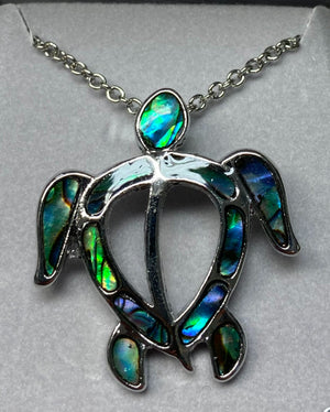 Wild Pearle Abalone Sea Turtle Necklace