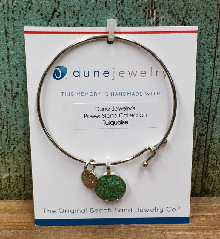 Dune Crushed Turquoise Bangle - Round