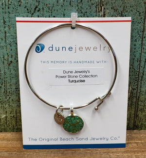 Dune Crushed Turquoise Round Bangle