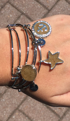 Dune Jewelry Stacked Bracelets, Lewes Beach