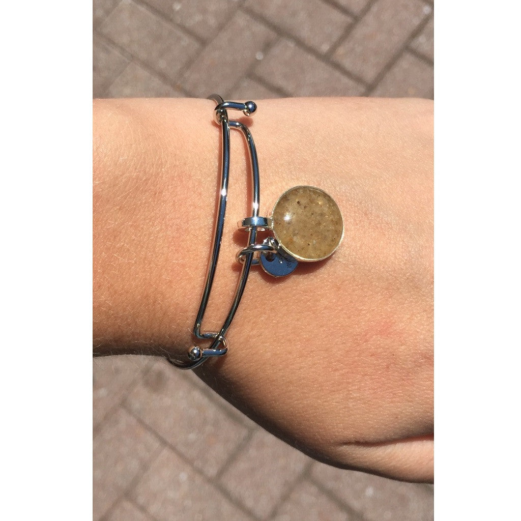 Lewes Beach Sand Bangle - Round