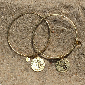 Dewey Sandcastle Chrysalis Bangle - Gold