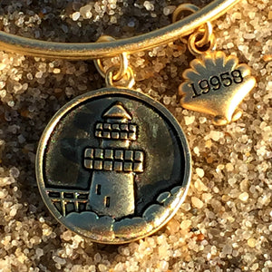 Lewes Delaware Beach Bangle, Gold, Chrysalis