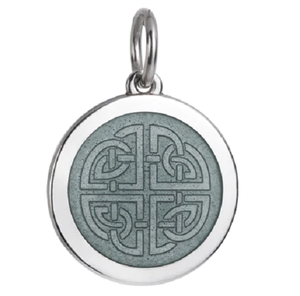 Front of Colby Davis Mother-Daughter Celtic Knot Pendant - Medium, Gray