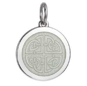 Front of Colby Davis Mother-Daughter Celtic Knot Pendant - Medium, White