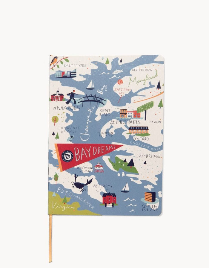 SPARTINA Bay Dreams Ruled Notebook