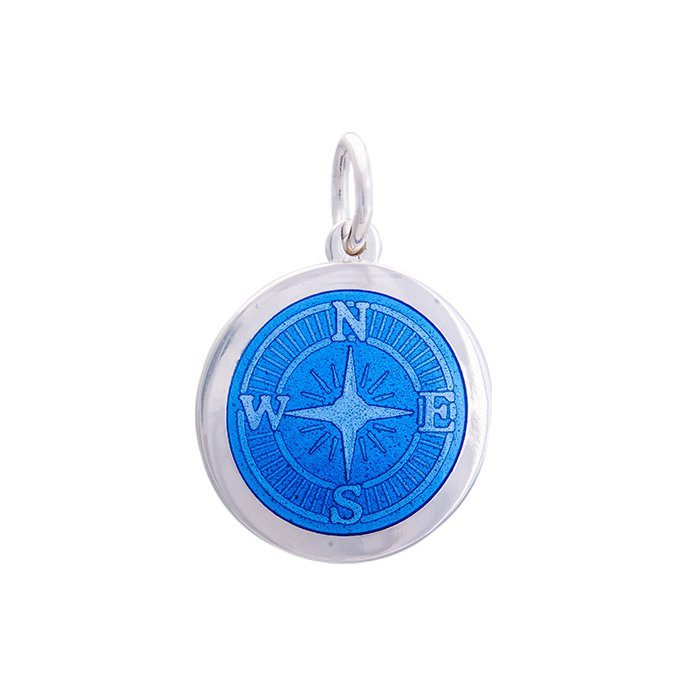 Lola Compass Pendant-Periwinkle, Medium