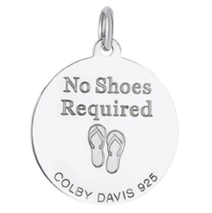 Back of Colby Davis Palm Tree Pendant - Medium